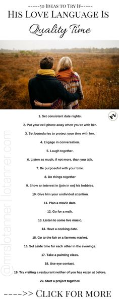 15 Stellar tips + 35 incredible date night ideas for you can use if you're husband's love language is Quality Time. Trust me, you can master this love language! http://www.lotanner.com/love-languages-quality-time @mrslotanner