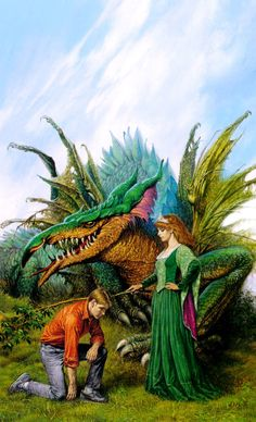 """Darrell K. Sweet, 1934-2011  cover for """"Her Majesty's Wizard"""" by Christopher Stasheff - one of my favorite books"""