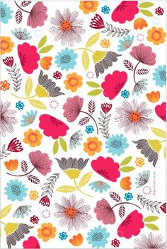 Bright floral tea towel. Tea towels available from https://www.facebook.com/pages/Maggiemagoo-Designs/1408541272798575?sk=photos_stream