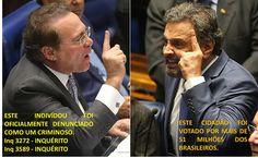 EDGAR RIBEIRO: O SENADO BRASILEIRO É PRESIDIDO POR UM INDIVÍDUO, ...