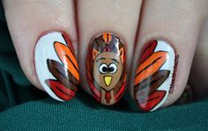 Mom, Mrs., and Me: Challenge Your Nail Art: Traditional Thanksgiving Image