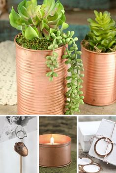 Decorate, accessorize, and entertain with this shiny, yet simplistic copper trinkets.