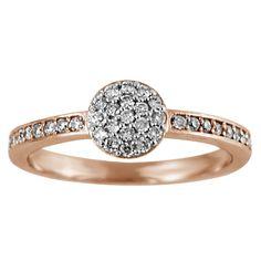 Regalia 14k Gold 1/4ct TDW Diamond Cluster Ring