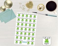 Pinning so I don't forget!! Remember to go back and check out Crafted By Corley on Etsy. Half Week Hoppin' Stickers - Erin Condren Vertical and Horizontal Planner Stickers Mid Week Stickers Half Week Stickers Frog Stickers by CraftedByCorley