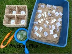 Inspector Phonics (easy to adapt idea) Eyfs Activities, Preschool Activities, Preschool Phonics, Outdoor Activities, Phase 1 Phonics, Eyfs Outdoor Area, Eyfs Classroom, Year 1 Classroom, Reception Class