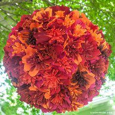 Make a crepe paper flower pinata | Lia Griffith