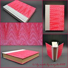 Rotes Kleisterpapierbuch Made-by-May