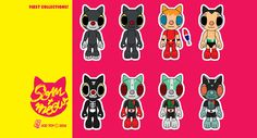 "first collection of ""som-meow"" toys.#joztoy#sommeow#resintoy#arttoy#designtoy#tokusatsu#bootlegtoy"