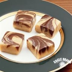 Chocolate Peanut Butter Swirled Fudge from Eagle Brand® #christmasrecipes