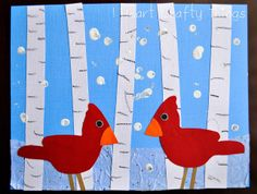 Image result for cardinal bird art for kids