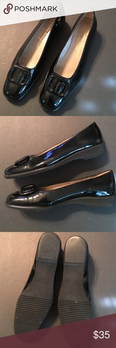 Salvatore Ferragamo patent leather shoes size 6 2A Salvatore Ferragamo black patent leather loafers size 6 2A. Salvatore Ferragamo Shoes Flats & Loafers
