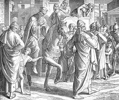 Bilder der Bibel - Mardochais Ehrung - Julius Schnorr von Carolsfeld
