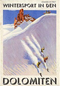 """""""Sport invernali in den Dolomiten"""", 1938. Copertina"""