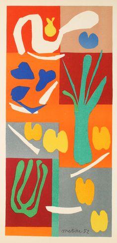 By Henri Matisse (1869-1954), 1952,  Végétaux, Mourlot Studio, Paris.