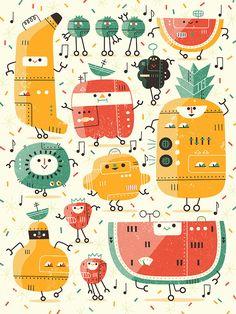 Fruitbots! for Light Grey Art Lab, Andrew Kolb