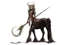 Centaur girl by Yeon-jung Kim