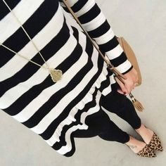 With Style & Grace | Pattern Mixing in Stripes and Leopard