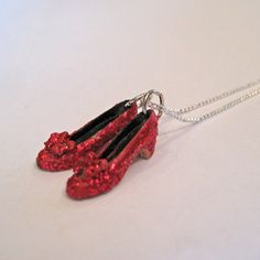 Ruby Red Slippers  Wizard of Oz Necklace  Dorthy's by Artwonders, $18.99.......aunty Vicky <3