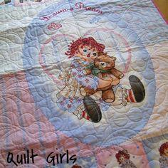 Panel Quilt Made with Raggedy Ann Dream a Dream Fabric