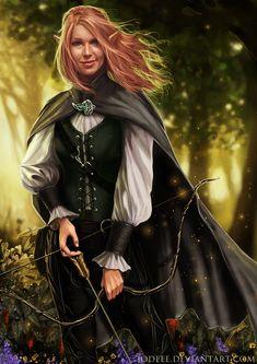 Commission - Elven Archer by jodeee on DeviantArt