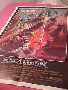 Excalibur 1 sh Movie Poster Original 27x41 nmint by MAYSVTG, $159.95