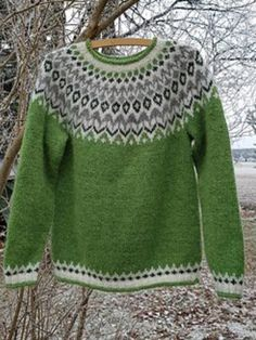 Soft Casual Plus Size Round Neck Sweater, Green / Baby Leggings, Plus Size Sweaters, Sweaters For Women, Fair Isle Pullover, Ärmelloser Mantel, Plus Size Pullover, Knitting Designs, Pulls, Long Sleeve Sweater