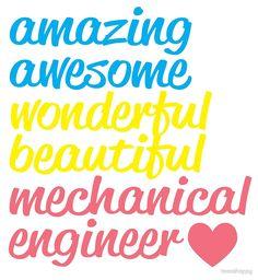 amazing awesome wonderful beautiful mechanical engineer by teesshoppy