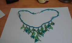 Beads, Green, leafs, Necklace