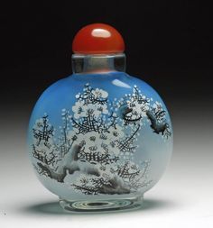 Chinese Inside Painted Glass Snuff