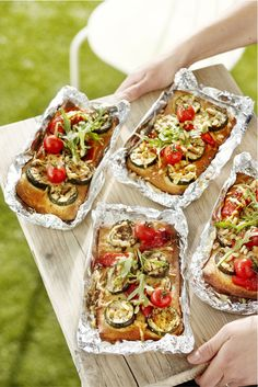 Pizza made on the grill? What a great way to start off the next neighborhood BBQ!