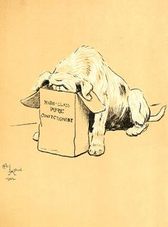 Cecil Aldin - A Dog Day Illustration from 1902 - No 24 in collection of 27…