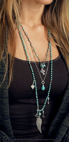 Turquoise and Wing Necklace from Smith and Western