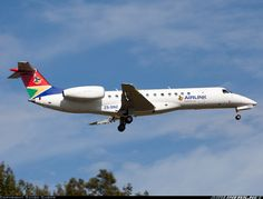 ZS-SNZ Airlink Embraer ERJ-135 Passenger Aircraft, Commercial Aircraft, Air Travel, Military Aircraft, Airplanes, Jet, Southern, African, Planes