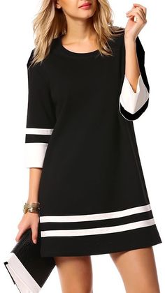 Chill Time Dress - Black