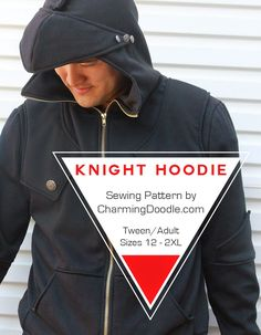 Charming Doodle Knight Hoodie tween and adult sizes