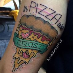 In pizza we crust by @keelyrutherford  Tag us in your pizza tattoos: @pizzatattoos #pizzatattoos