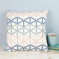 Kenza Cushion geometric pattern hexagon by GraceAndFavourHome