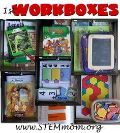 P4-5 Sonlight Workboxes for Homeschooling
