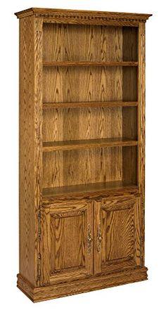 Britannia Bookcase w Doors in Oak Wood, 84 in. in Medium Oak 283403-OG-163623-O-847213