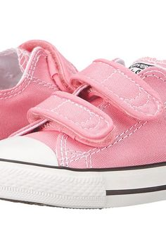 Converse Kids Chuck Taylor 2V Ox (Infant/Toddler) (Pink) Girls Shoes - Converse Kids, Chuck Taylor 2V Ox (Infant/Toddler), 709447F, Kids' Shoes Girls Toddler Playground Playground, Hook Loop, Hook and Loop, Athletic, Footwear, Shoes, Gift, - Street Fashion And Style Ideas