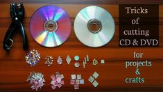 Diy With Cds, Crafts With Cds, Recycled Cd Crafts, Old Cd Crafts, Recycle Crafts, Diy Arts And Crafts, Cute Crafts, Crafts For Kids, Diy Crafts