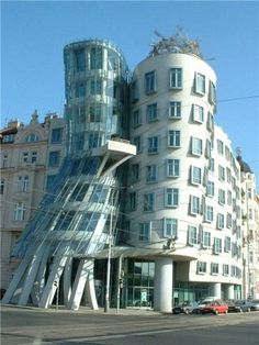 The Frank Gehry Building in Prague, Czech Republic. Frank Gehry, Beautiful Places In The World, Places Around The World, Around The Worlds, Ginger Rogers, Fred Astaire, Amazing Architecture, Modern Architecture, Prague Architecture