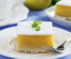 Barrette al limone - #LemonBars Dolcetti a base di biscotto e crema al limone