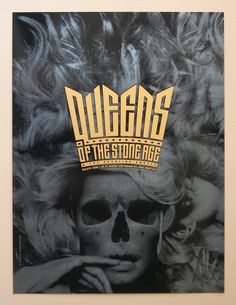 Queens of the Stone Age gig poster - Alan Hynes