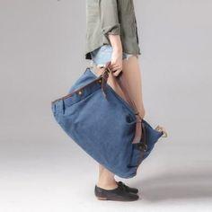 83aab9656f3c Women Canvas Tote Bag Messenger Bag Shoulder Bag Duffle Bag Large Travel Bag  FB02 - LISABAG