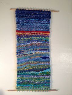 """Handwoven Wall Hanging / """"Sunrise on the Kennebec"""" / Maine Tapestry Weaving / Textile Art / Relaxing / Abstract / FREE SHIPPING. $200,00, via Etsy."""