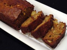 Zucchini Pineapple Walnut Bread-  I'll need to tweak this because the pic looks a little dry.