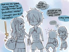 Fairy tail boys basketball game and their woman! Part 3 I mean I hate GrUvia but I'll just be Juvia for this one Fairy Tail Juvia, Fairy Tail Gray, Fairy Tail Ships, Fairy Tail Anime, Juvia And Gray, Natsu Y Lucy, Fangirl, Fairy Tail Comics, Fairy Tail Guild
