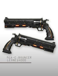cyberpunk gradient gradient background gun handgun highres no humans original revolver weapon white background - Image View -