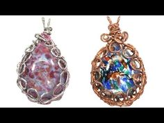 Easy Wire Wrapped Bezel Pendant Tutorial - YouTube